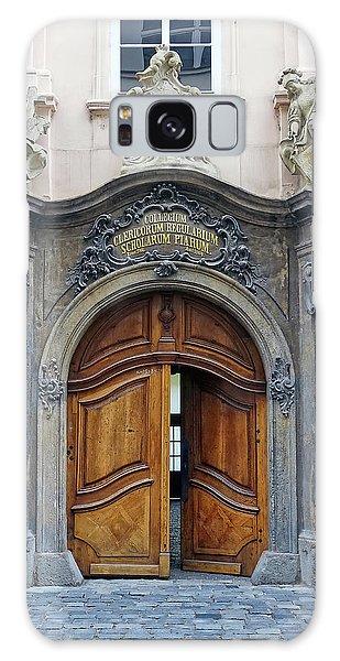 Artistic Ornate Door In Prague Galaxy Case