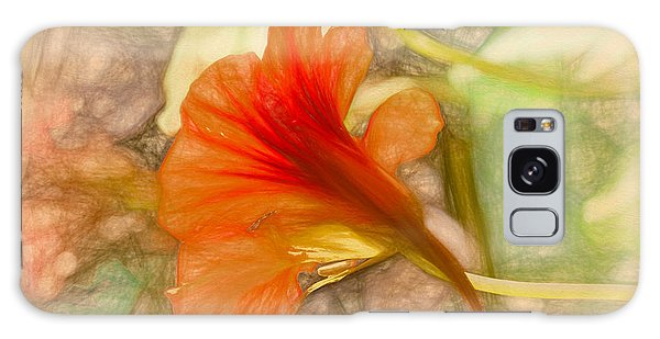 Galaxy Case featuring the photograph Artistic Red And Orange by Leif Sohlman