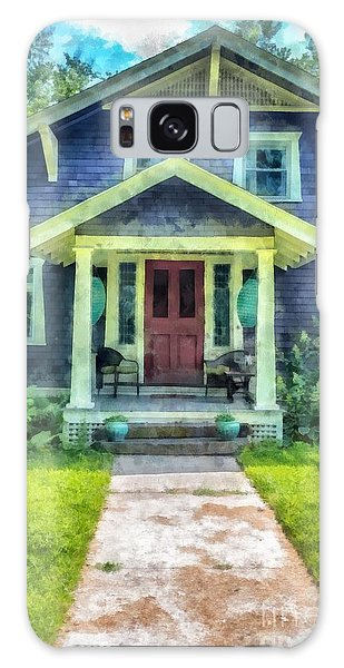Front Galaxy Case - Arts And Crafts Home Deerfield Ma Watercolor by Edward Fielding