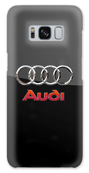 Audi - 3 D Badge On Black Galaxy Case