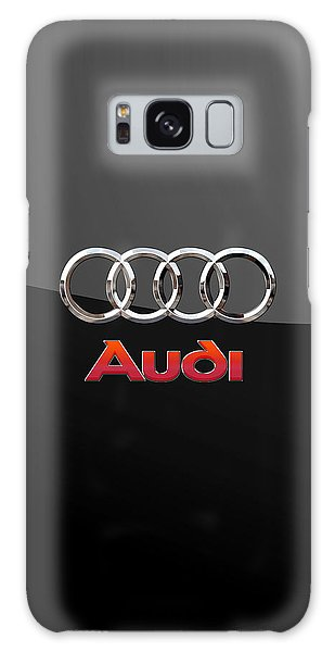 Audi - 3 D Badge On Black Galaxy Case