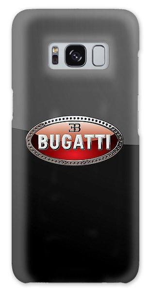 Bugatti - 3d Badge On Black Galaxy Case by Serge Averbukh