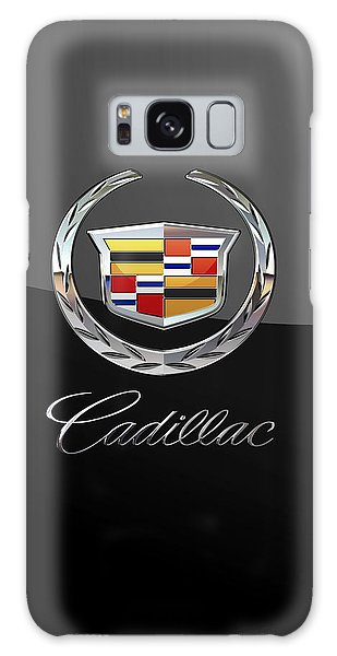 Cadillac - 3d Badge On Black Galaxy Case