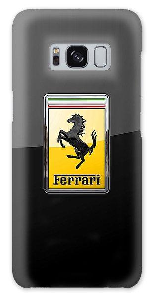 Ferrari - 3 D Badge On Black Galaxy Case