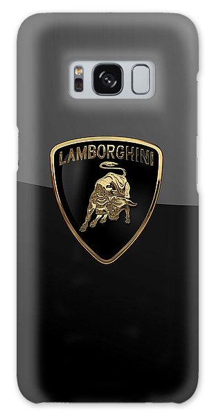 Lamborghini - 3d Badge On Black Galaxy Case