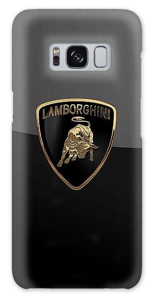 Lamborghini - 3d Badge On Black Galaxy Case