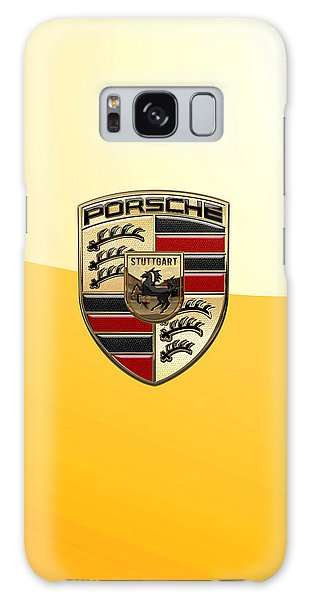 Porsche - 3d Badge On Yellow Galaxy Case