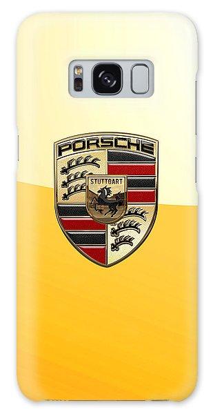 Porsche - 3d Badge On Yellow Galaxy Case