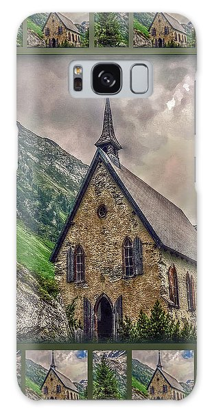 Mountain Chapel Galaxy Case by Hanny Heim