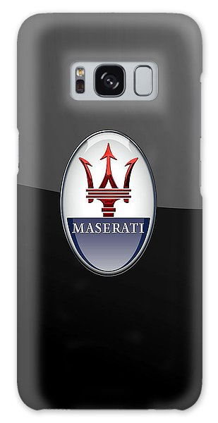 Maserati - 3d Badge On Black Galaxy Case
