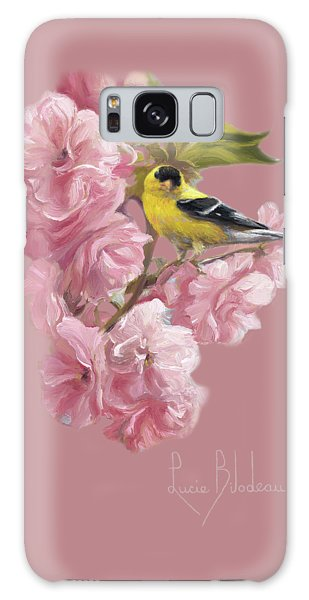 Finch Galaxy S8 Case - Spring Blossoms by Lucie Bilodeau