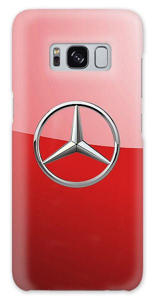 Mercedes-benz - 3d Badge On Red Galaxy Case
