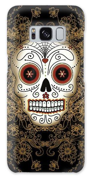 Halloween Galaxy Case - Vintage Sugar Skull by Tammy Wetzel