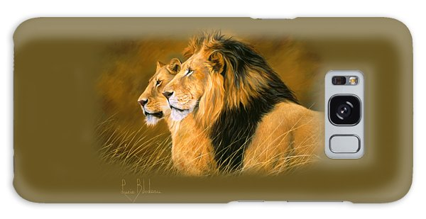Lion Galaxy Case - Side By Side by Lucie Bilodeau