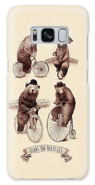 Bears On Bicycles Galaxy Case