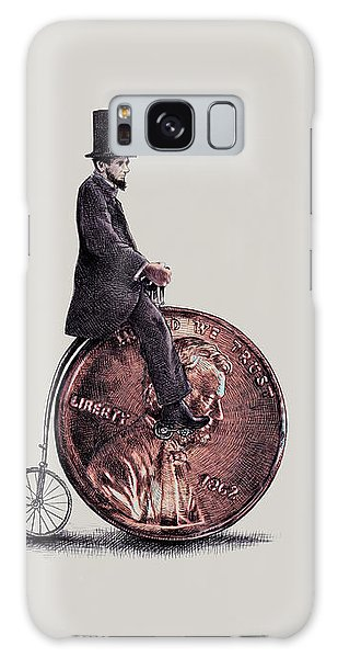 Abraham Lincoln Galaxy Case - Penny Farthing by Eric Fan