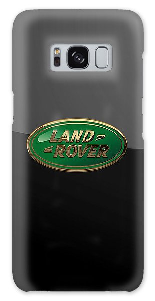 Land Rover - 3d Badge On Black Galaxy Case