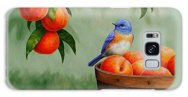 Bluebird And Peaches Greeting Card 3 Galaxy Case