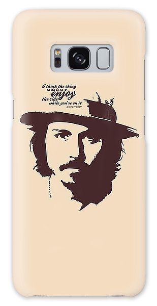 Johnny Depp Minimalist Poster Galaxy Case by Lab No 4 - The Quotography Department