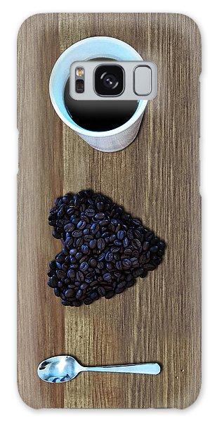 Heart Galaxy Case - I Love Coffee by Nicklas Gustafsson