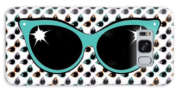 Retro Turquoise Cat Sunglasses Galaxy Case