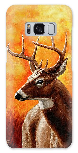 White-tailed Deer Galaxy Case - Whitetail Buck Portrait by Crista Forest