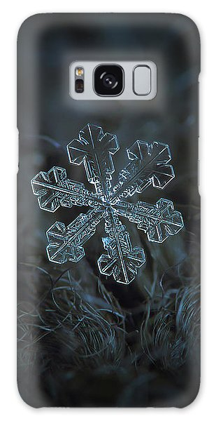 Galaxy Case featuring the photograph Snowflake Photo - Vega by Alexey Kljatov