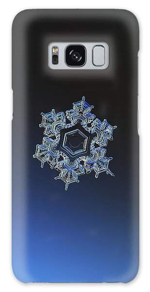 Galaxy Case featuring the photograph Snowflake Photo - Spark by Alexey Kljatov