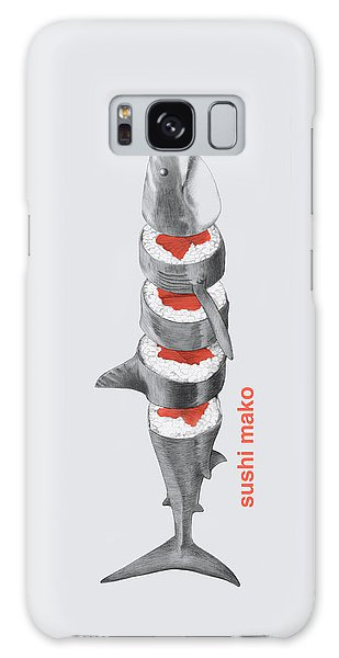 Sharks Galaxy Case - Sushi Mako by Eric Fan