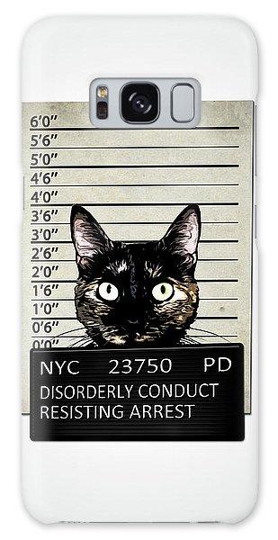 Galaxy Case - Kitty Mugshot by Nicklas Gustafsson
