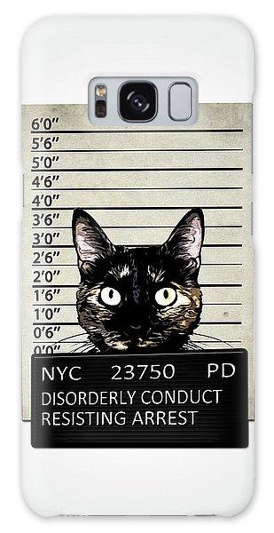 Funny Galaxy Case - Kitty Mugshot by Nicklas Gustafsson
