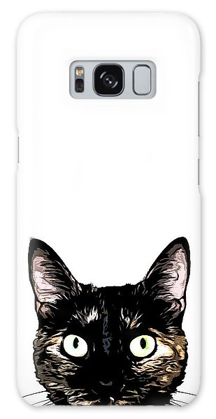 Cat Galaxy Case - Peeking Cat by Nicklas Gustafsson