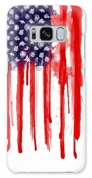 American Spatter Flag Galaxy Case