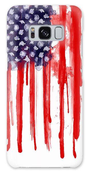Watercolor Galaxy Case - American Spatter Flag by Nicklas Gustafsson