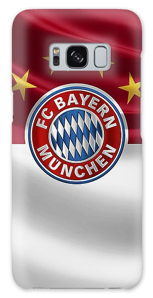 F C Bayern Munich - 3 D Badge Over Flag Galaxy Case