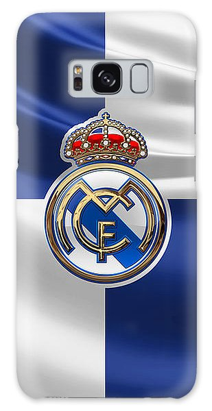 Real Madrid C F - 3 D Badge Over Flag Galaxy Case