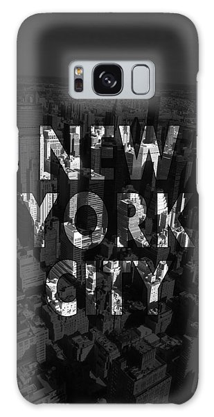 Office Galaxy Case - New York City - Black by Nicklas Gustafsson