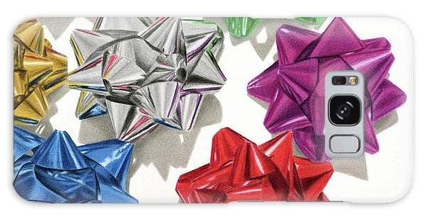Hyper-realistic Galaxy Case - Christmas Bows And Shadows by Sarah Batalka