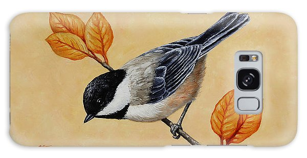 Chickadee Galaxy S8 Case - Chickadee And Autumn Leaves by Crista Forest