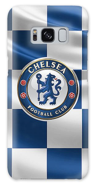 Chelsea F C - 3 D Badge Over Flag Galaxy Case