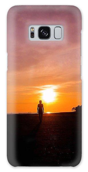 Beach Sunset Galaxy Case - Sunset Walk by Nicklas Gustafsson