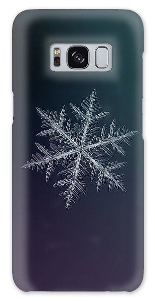 Snowflake Photo - Neon Galaxy Case