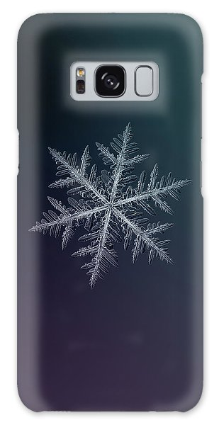 Galaxy Case featuring the photograph Snowflake Photo - Neon by Alexey Kljatov