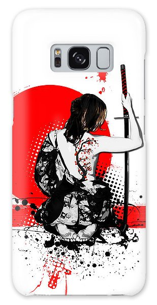 Blossoms Galaxy Case - Trash Polka - Female Samurai by Nicklas Gustafsson
