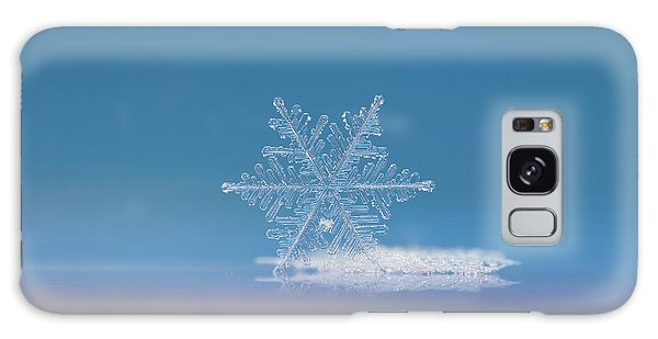 Snowflake Photo - Cloud Number Nine Galaxy Case by Alexey Kljatov
