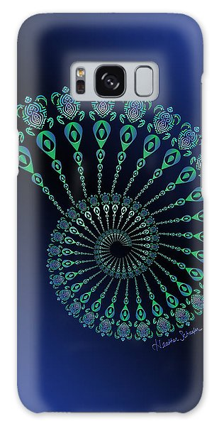 Tribal Turtle Spiral Shell Galaxy Case