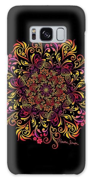 Fire Swirl Flower Galaxy Case
