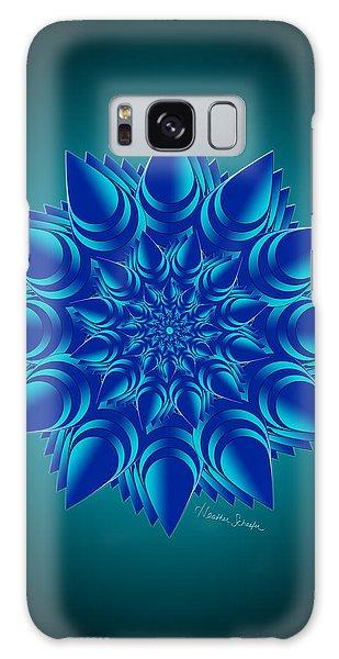 Fractal Flower In Blue Galaxy Case