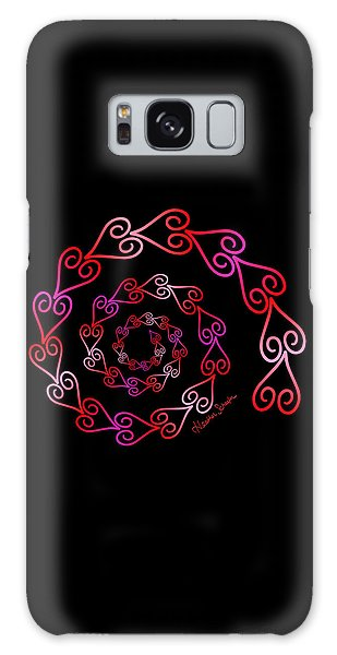 Spiral Of Hearts Galaxy Case