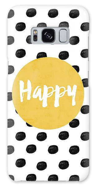 White Galaxy Case - Happy Yellow And Dots by Allyson Johnson